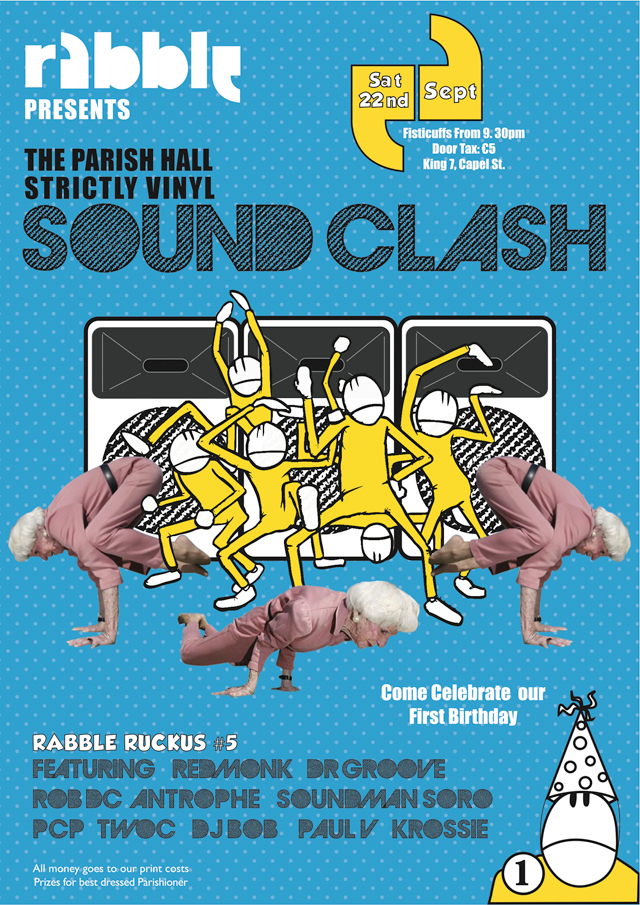 rabble sound clash flyer